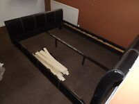 LEATHER DOUBLE BEDFRAME FOR SALE