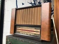 ART DECO WALNUT CASED RADIO - ANTIQUE VINTAGE RETRO