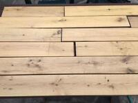 Solid medium oak flooring