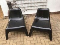 Plastic Ikea chairs... teen/gaming or outdoors.