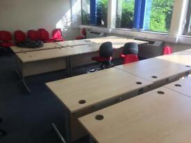Office desks excellent condition 120cm x80cm 28 available
