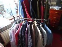 60 PIECES (approx.) of GENTS CLOTHING, MOSTLY BRAND NEW, ALL SORTS, XL to 3XL, PLUS LADIES CLOTHING