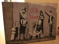 Banksy large canvas picture