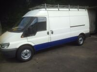 2004 54 FORD TRANSIT 2.4 TDI 125 350 LWB low mils 79959 no vat