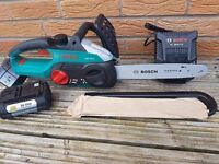 BOSCH AKE 30, 36v chainsaw li-ion ,2.6ah battery, charger. UNUSED