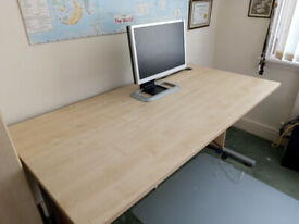 Nearly new Lightwood desk