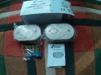 Kidde Twin Pack Carbon Monoxide Alarms.