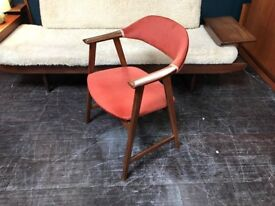 Danish Style Elbow Chair. Retro Vintage Mid Century