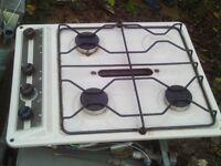 caravan / motorhome /camper cream 3 burner hob with grill