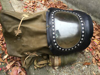 WW2 BABY / INFANT GAS MASK 1939 SECOND WORLD WAR ARMY SURPLUS HOME DEFENSE RARE MILITARY ANTIQUE
