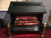 Dimplex Lyndhurst Black Radiant Fuel Effect Electric Fire