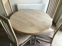 Dining room Table Round Extending