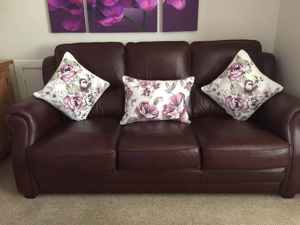 Two Matching Leather Settees (Great Value)