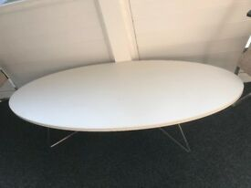 Oval Coffee Table in White - New from cancelled order