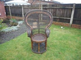 Antique Indonesian Wicker chair