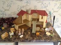 Sylvanian Family Home with lots of extras