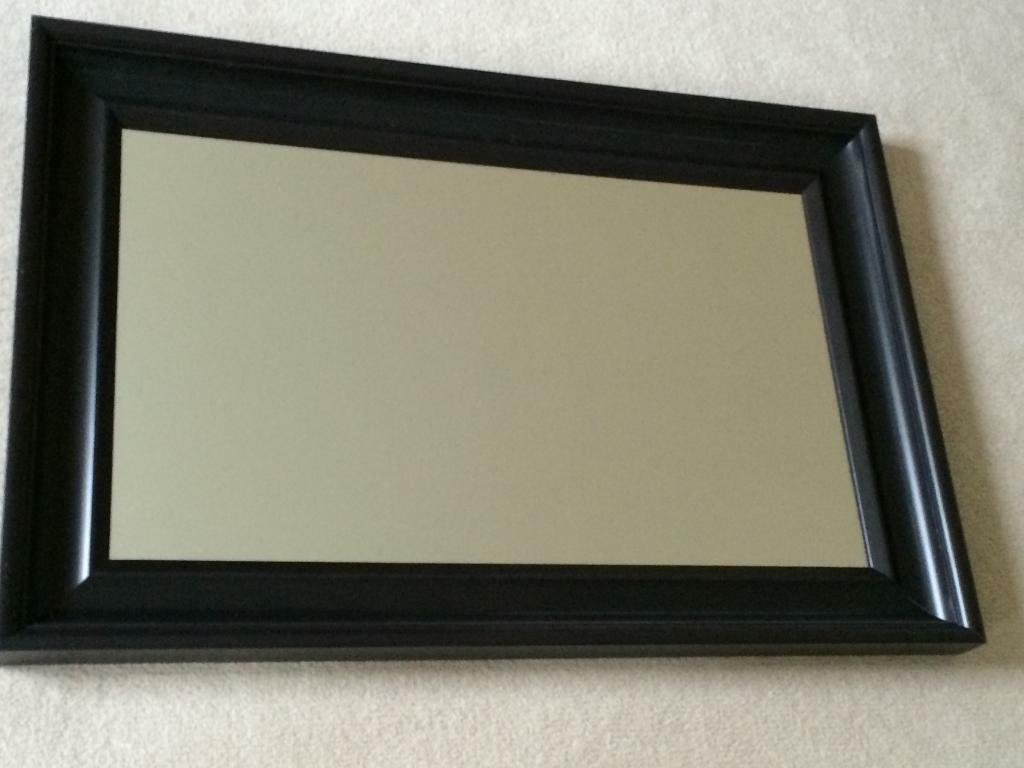 Ikea hemnes black brown mirror in yate bristol gumtree for Mirror black