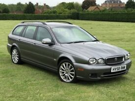 JAGUAR X-TYPE 2.0d S ESTATE DIESEL * 1 P/OWNER, FSH x 14 STAMPS, GREAT CONDITION, BLUETOOTH
