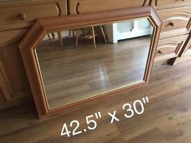 Large wooden Surround mirror