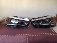 Pair of NEW Right hand drive UK model headlights BMW X1 Full LED F48 2015 on COMPLETE