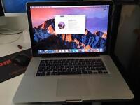"""15"""" Early 2011 Macbook Pro i7 8gig ram 750 Sata drive. Refurbished to a high standard with a new GPU"""