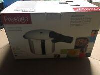 Prestige 6L pressure cooker, brand new.