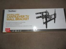 Double arm Cantilever TV wall bracket to fit screens 23-56 ins