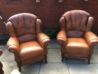 Sterling Warehouse Brown 3 Piece Suite