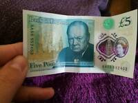 AA ~ 5 POUNDS NOTES ~ AA