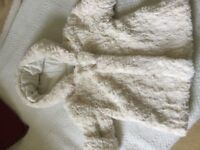 Cream girls fur coat by Absorba 18 months
