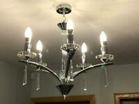 5-light Chandelier with crystals
