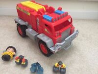 Fire Engine and Car toy - excellent condition