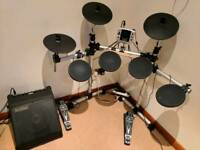 Electronic Drum Kit and Amp