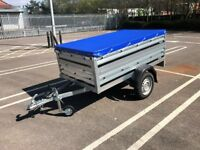 Brand new Brenderup 1205s car box trailer with double side and flat
