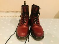 Doc Martens Size 5 Oxblood/Red