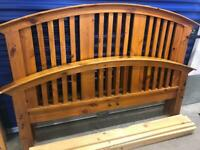 Rustic solid pine king size bed frame, very good condition, can deliver