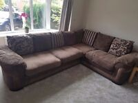 Brown DFS Corner Sofa