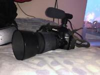 Nikon d3200 DSLR camera with two lenses (unboxed)