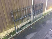 8ft wide galvanised steel driveway gates £130 can deliver
