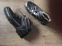 Men's leather timberland boots size 8 in black