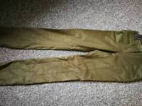 Worn once forest green designer trousers