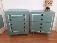 Two Vintage Chest of Drawers