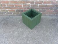 NEW HANDMADE WOODEN SQUARE PLANTER