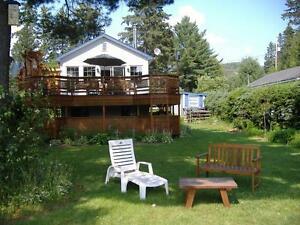 ZEN-PEACEFUL Charming Lakefront Chalet-VAL DAVID-weeks or w/es
