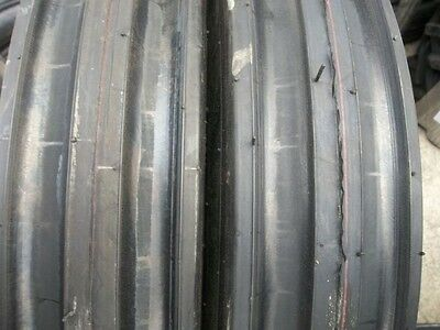 Two 11.00x161100x1611.00-16 Deere Ford Ten Ply 3 Rib Tractor Tires Wtubes
