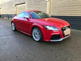 A MAGNIFICENT AUDI TTRS QUATTRO UPGRADE SPORTS CAR IN THE STUNNING MISANO RED