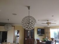 Crystal Style Ceiling Lights chandeliers x 2 (Delivery Available)