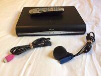 SKY HD BOX SATELLITE TV RECEIVER 500GB WIFI REMOTE & CABLES INCL. BOXED *VGC*