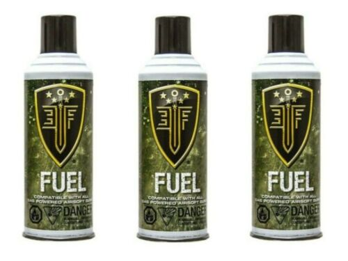Elite Force Green Gas Cans with Silicone Oil for Airsoft Guns 8 oz Each - 3 Pack
