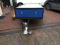 8x4 ft single axle trailer.